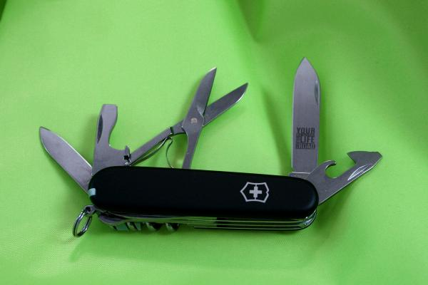 Black soft grip Victorinox Climber RT