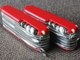 Victorinox SwissChamps - differences: multi-purpose hook, key ring, corkscrew