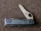 Victorinox One Hand Master - RT (Road Tour) logo on main blade
