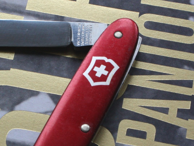 Victorinox 75mm alox pen knife - painted shield with thick lines