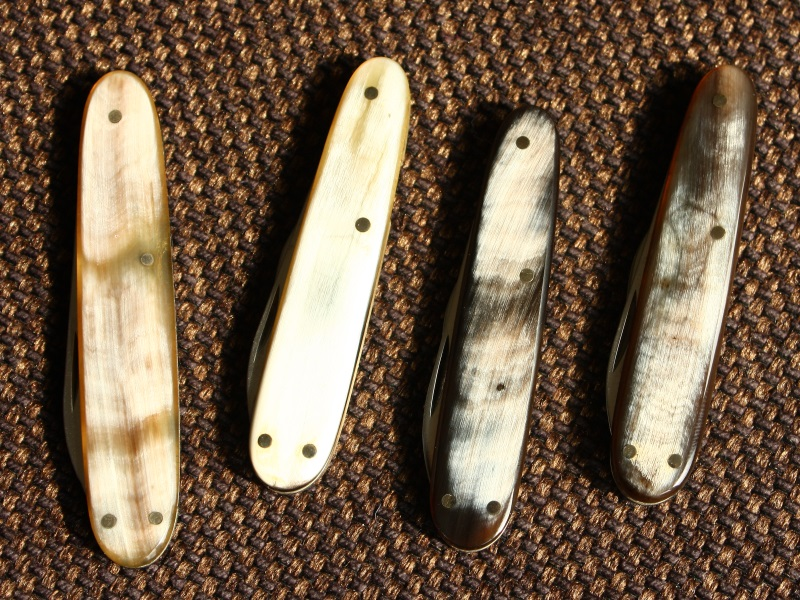 Victorinox SAKs with horn scales and long nail files